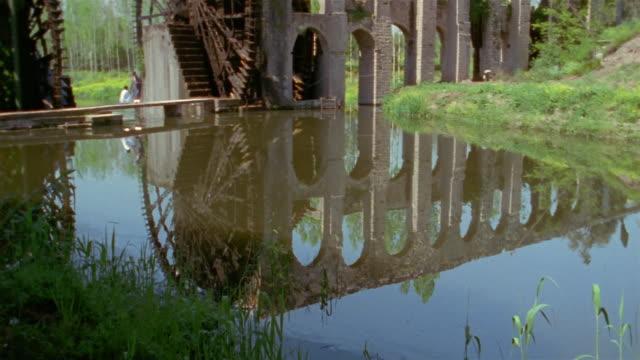 WS, TU, aqueduct with water wheels, Hama, Syria