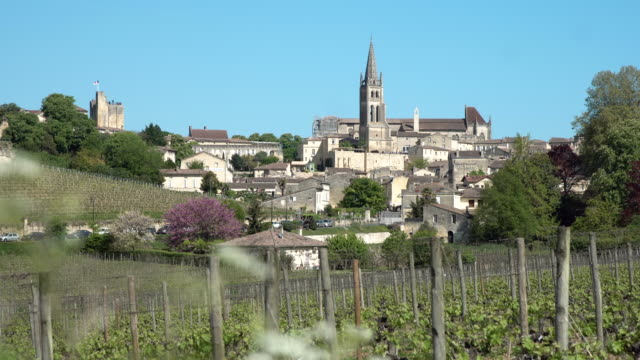 aquitaine, saint-emilion village - gironde stock videos and b-roll footage
