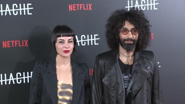 vídeos y material grabado en eventos de stock de ara malikian and natalia moreno attend 'hache' premiere by netflix in madrid - programa de televisión
