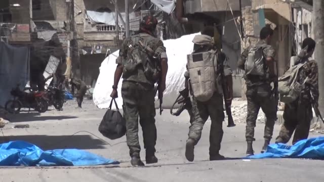 arab and kurdish fighters from the syrian democratic forces which is supported by the us led international coalition forced jihadists from the... - syrian democratic forces stock videos & royalty-free footage