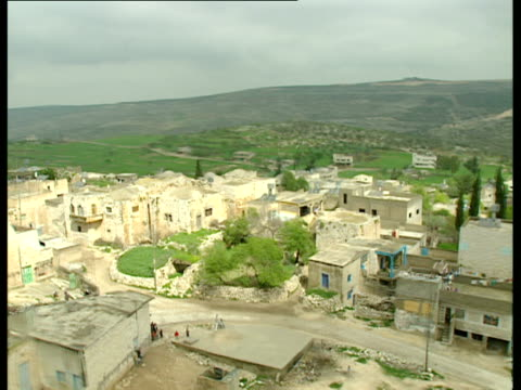 aerial ws arab city of ramallah in samaria, israel - ramallah stock videos and b-roll footage