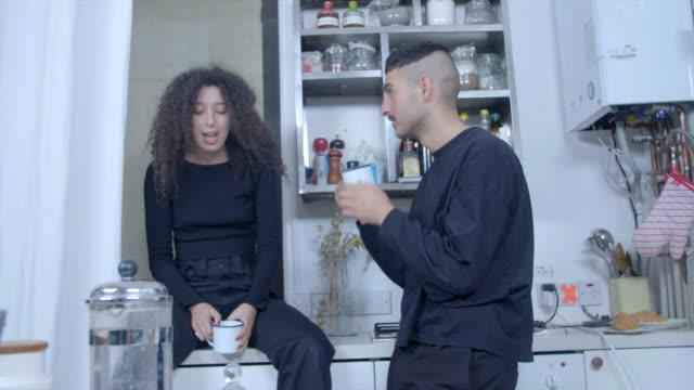 Arab couple in Kitchen