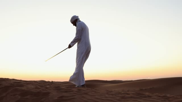 arab in the desert out of dubai - only men stock videos & royalty-free footage