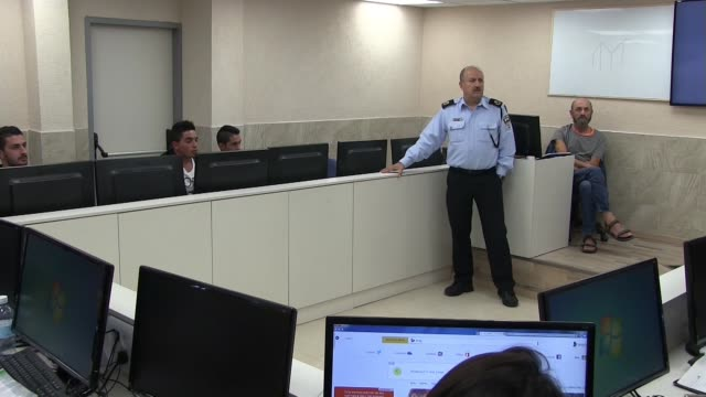 arab israelis during a class preparing arab muslims for tests to enter israel's police academy at the police training center in kiryat ata on 14... - 14 15 years stock videos & royalty-free footage