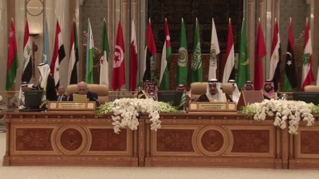 arab leaders pledge to remove obstacles to finalising a free trade zone this year and agree to facilitate capital flows as they wrap up an economic... - riyadh stock videos & royalty-free footage