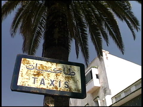 arab taxi stand - non western script stock videos & royalty-free footage