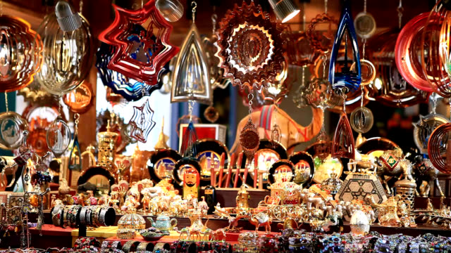 arabian style souvenirs - retail occupation stock videos & royalty-free footage