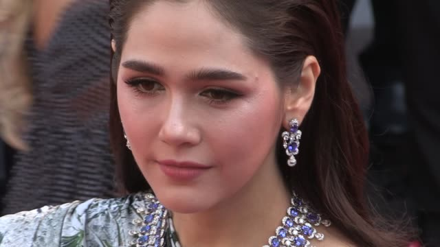 araya a hargate on the red carpet for the premiere of les filles du soleil at the cannes film festival 2018 saturday 12 may 2018 cannes france - 71st international cannes film festival stock videos & royalty-free footage