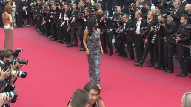 Araya Hargate Megan Gale Nievez Alvares Alicia Vikander Kristina Bazan at 'Sicario' Red Carpet on May 19 2015 in Cannes France