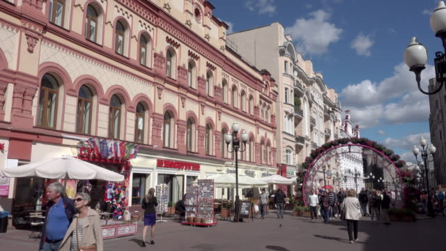 arbat, moscow - moscow russia stock videos & royalty-free footage