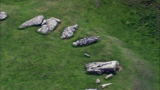Arbor Low Stone Circle  - Aerial View - England,  Derbyshire,  Derbyshire Dales District,  United Kingdom