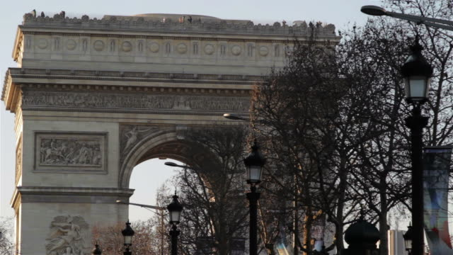 arc de triomphe, close-up - arch architectural feature stock videos and b-roll footage