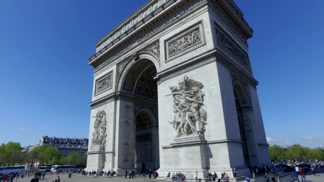 4K Arc de Triomphe, Paris - Driving past
