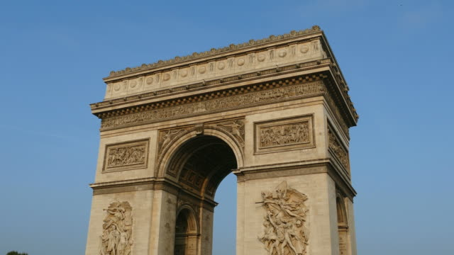 arc de triomphe, paris, france, europe - 凱旋門点の映像素材/bロール