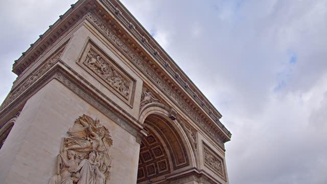 vidéos et rushes de arc de triomphe - paris - arc élément architectural