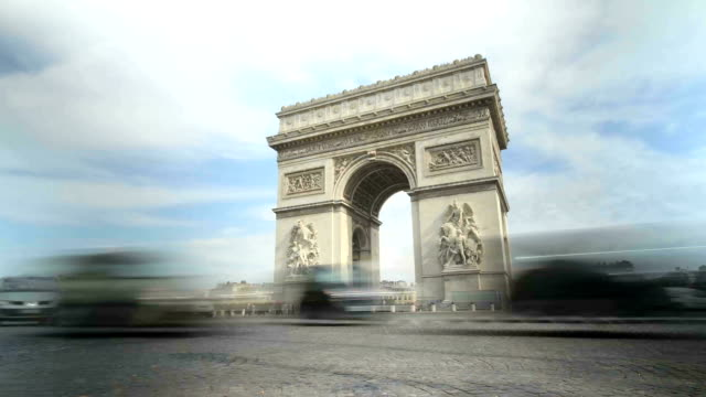 arc de triomphe time-lapse - president stock videos & royalty-free footage