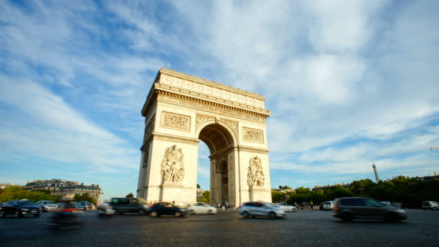 Arc de Triumph, Paris France  time lapse