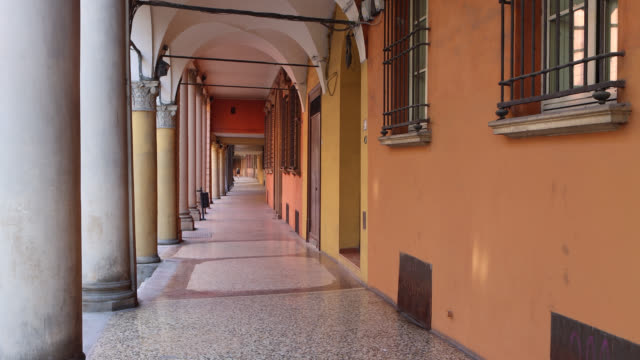 arcade and sidewalk in bologna - one teenage boy only stock videos & royalty-free footage