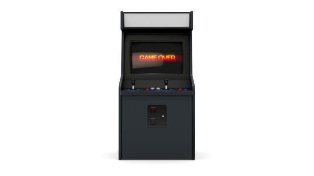 vidéos et rushes de arcade machine faire pivoter - pixellisation