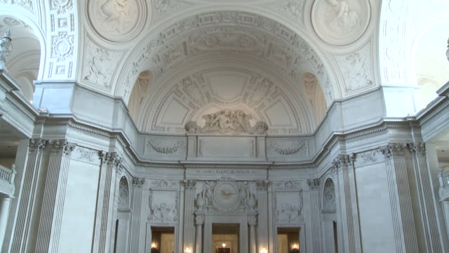 arch inside san francisco city hall/ san francisco california/ audio - unknown gender stock videos & royalty-free footage