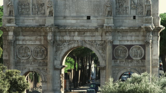 ms td arch of constantine / rome, italy - arch of constantine stock videos and b-roll footage