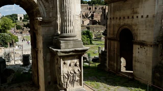 Arch of Septimius Severus in The Roman Forum