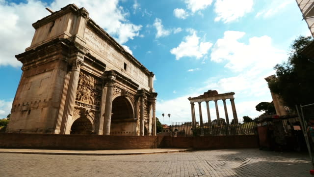 arch of septimius severus - antiquities stock videos and b-roll footage