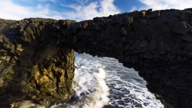 arch on dyrholaey - dyrholaey stock videos & royalty-free footage