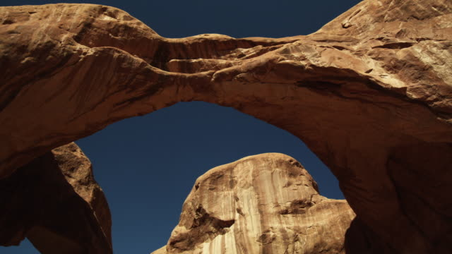 MS LA Arch rock formations in Arches National Park / Arches National Park, Utah, USA