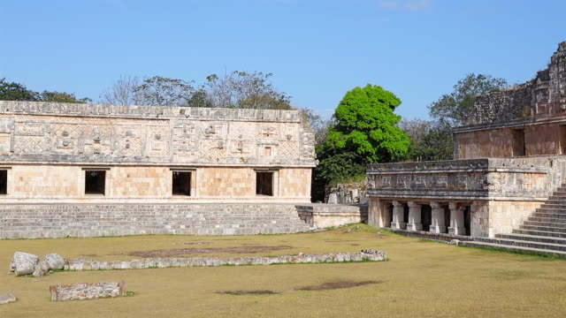 Archaeological site of complex of Uxmal - the Nunnery Quadrangle - Maya culture in Mexico