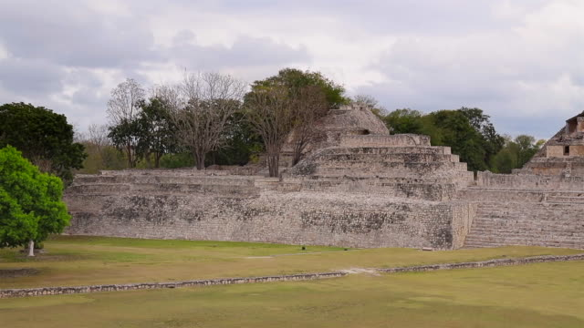 Archaeological site of Edzna - Gran Acropolis, Yucatan Peninsula , Campeche , Mexico , Maya Civilization