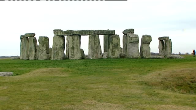 geologists find origin of stonehenge blocks stonehenge stonehenge monument zoom in closer shots of monument stones location unknown int dr richard... - outcrop stock videos & royalty-free footage