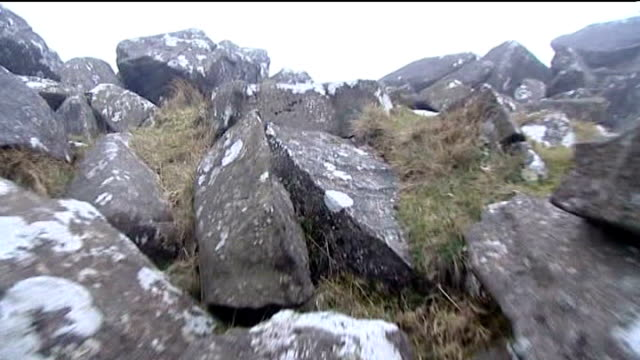 geologists find origin of stonehenge blocks wales north pembrokeshire craig rhosyfelin shot over rocky outcrop - outcrop stock videos & royalty-free footage