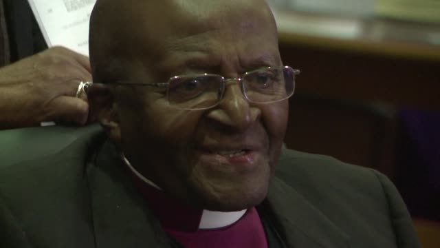 Archbishop Desmond Tutu celebrates 40 years of episcopal ministry by taking party in a special service at St Marys Cathedral in Johannesburg in the...