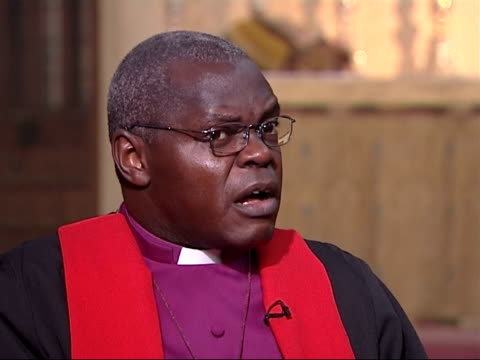 archbishop john sentamu interview if you do not actually subscribe to the things that make britain you are going to be in trouble/ value of british... - subscribe stock videos and b-roll footage