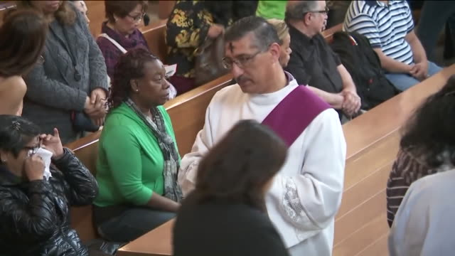 KTLA Archbishop Marks Sign of the Cross on Catholics' Foreheads on Ash Wednesday