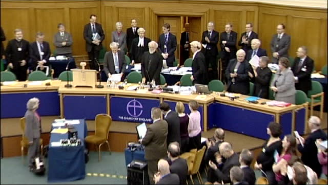 archbishop of canterbury addresses synod on sharia controversy; england: london: westminster: church house: int general view of general synod... - anglican stock videos & royalty-free footage