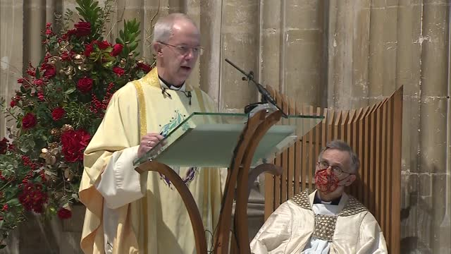 archbishop of canterbury christmas day sermon 2020; england: kent: canterbury cathedral: justin welby christmas day sermon sot . - in this christmas... - christmas gift stock videos & royalty-free footage