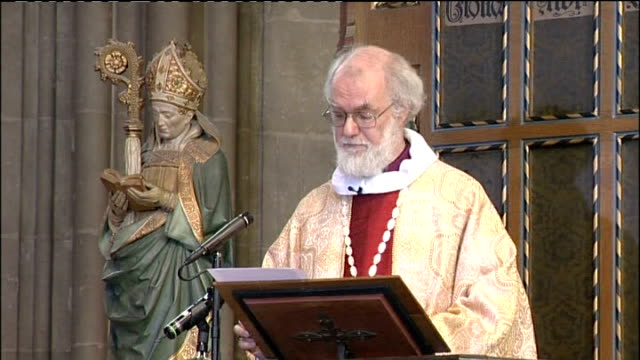archbishop of canterbury christmas day sermon dr rowan williams sermon continued sot in any such situation the same holds true in recent days i have... - archbishop of canterbury stock videos & royalty-free footage