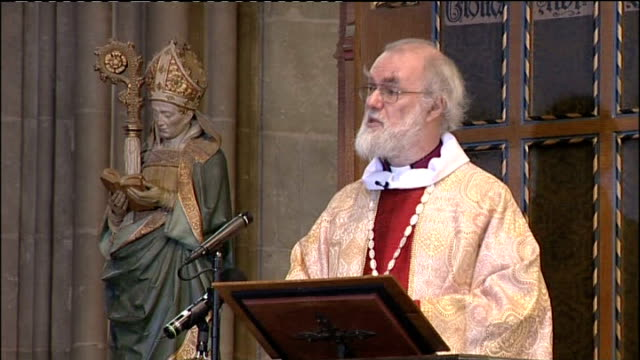 archbishop of canterbury christmas day sermon; dr rowan williams sermon continued sot curious that, all these years later, the same language still... - human arm stock videos & royalty-free footage