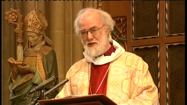 archbishop of canterbury christmas day sermon rowan williams christmas day sermon sot passes on the prayers of congregation in canterbury prison / on... - new testament stock videos & royalty-free footage