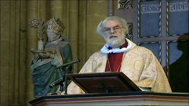 archbishop of canterbury christmas message and what stuck in my mind and i'm sure the minds of my colleagues was a remark made by dr robert tabash... - new testament stock videos & royalty-free footage