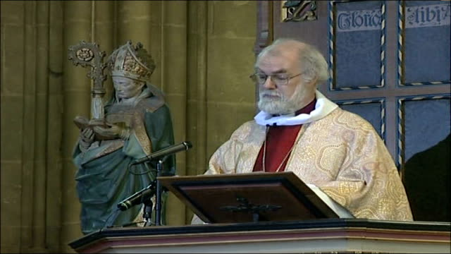 archbishop of canterbury christmas message; the poorest deserve the best. but, as jesus clearly knew, poverty has many faces. and the great... - western european culture stock videos & royalty-free footage
