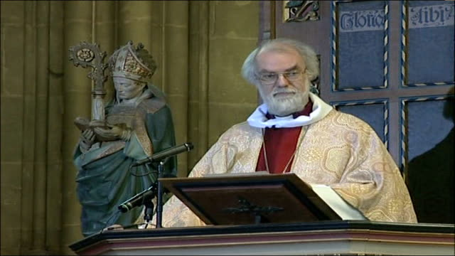 archbishop of canterbury christmas message; one of the most chilling things on this journey to the holy land was the almost total absence in both... - human back stock videos & royalty-free footage