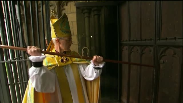 archbishop of canterbury discovers his biological father is not gavin welby lib / canterbury canterbury cathedral ext the most reverend justin welby... - archbishop stock videos & royalty-free footage