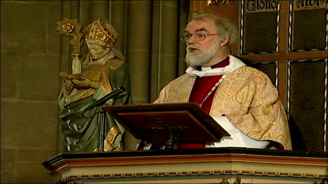 archbishop of canterbury easter message rowan williams along from pulpit doctor rowan williams sermon sot sceptic will ask why i should believe all... - new testament stock videos & royalty-free footage