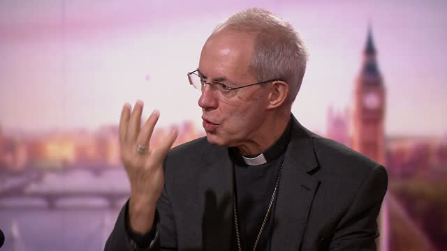 """archbishop of canterbury justin welby explaining why christmas is not """"cancelled"""" due to coronavirus restrictions - clergy stock videos & royalty-free footage"""