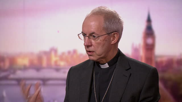 archbishop of canterbury justin welby giving advice for people who have lost loved ones to coronavirus that are struggling over christmas - advice stock videos & royalty-free footage