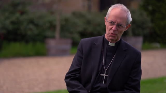 archbishop of canterbury justin welby saying his doctor tells him the whole point of anxiety and depression is they're there to tell you something - warning sign stock videos & royalty-free footage