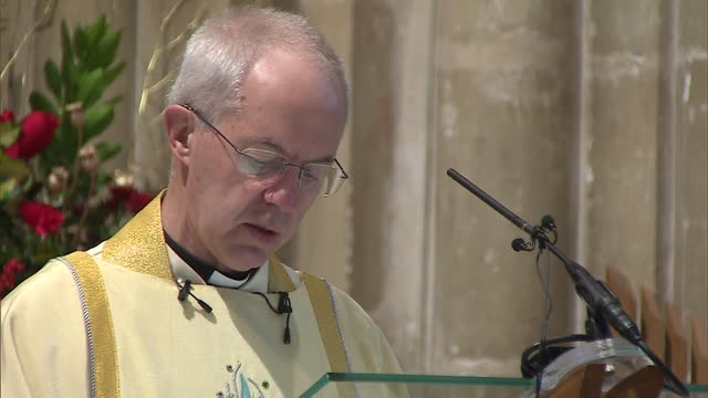 "archbishop of canterbury justin welby saying there are ""gifts of hope"" this christmas despite the coronavirus pandemic - archbishop of canterbury stock videos & royalty-free footage"